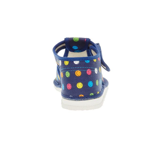 Dětská domácí obuv bata, modrá, 179-9100 - 17