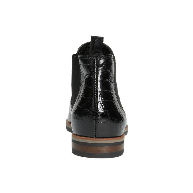 Kožené Chelsea boots bata, černá, 598-6600 - 17