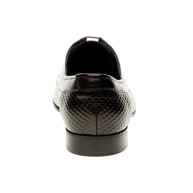 Kožené polobotky se zdobenou patou conhpol, černá, 824-6701 - 17