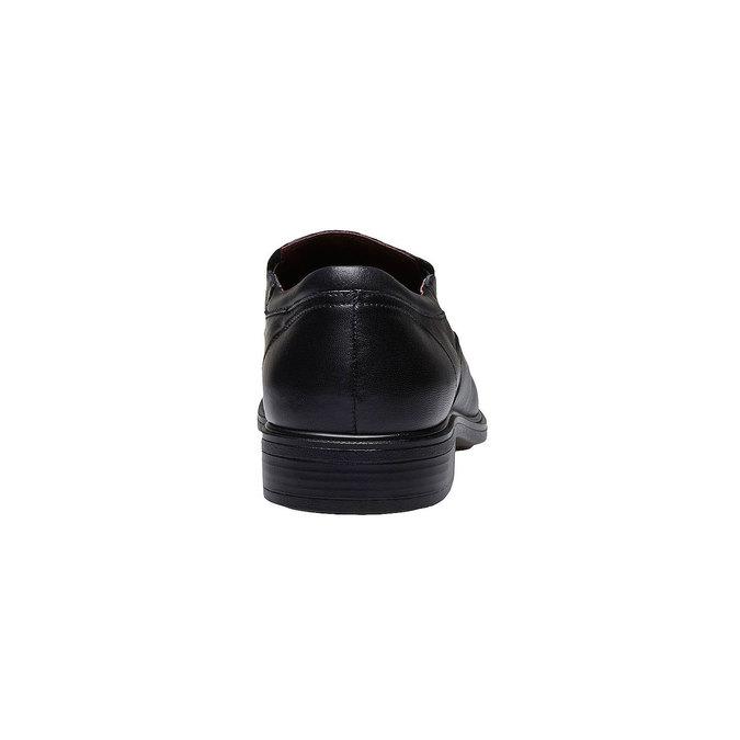 Komfortní polobotky z kůže bata-comfit, černá, 814-6934 - 17