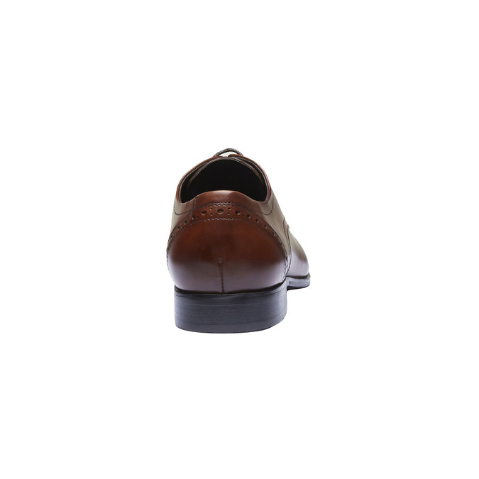 Kožené polobotky v Derby střihu se zdobením bata, hnědá, 824-4274 - 17