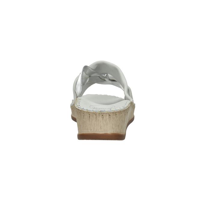 Dámské kožené sandály comfit, bílá, 574-1248 - 17