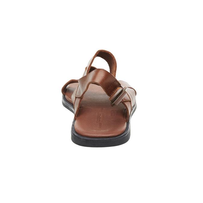 Pánské kožené sandály rockport, hnědá, 864-3106 - 17