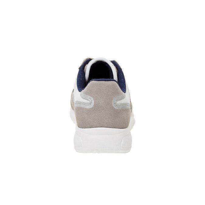 Pánské kožené tenisky gas, modrá, šedá, bílá, 843-9606 - 17