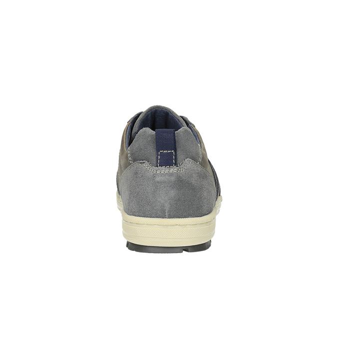 Pánské kožené tenisky bata, šedá, 826-2649 - 17