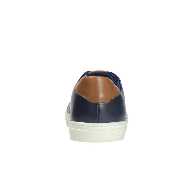 Pánské kožené tenisky bata, modrá, 844-9626 - 17