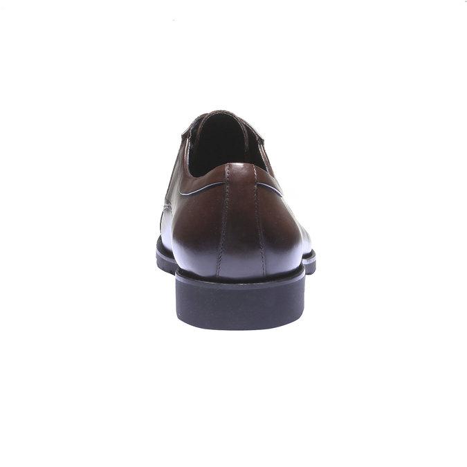 Kožené polobotky v Derby stylu bata, 2019-824-4398 - 17