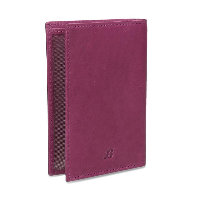 Kožené pouzdro na karty bata, růžová, 944-5158 - 13