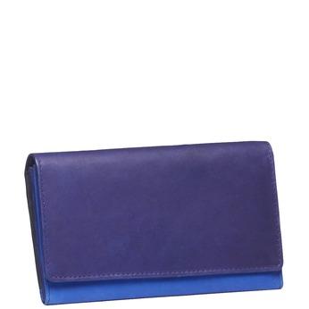 Dámská kožená peněženka bata, modrá, fialová, 944-9156 - 13