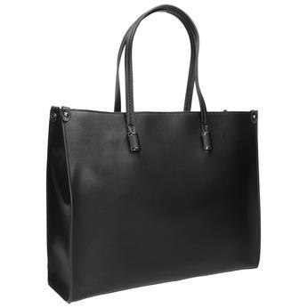 Hranatá kabelka v Shopper stylu bata, černá, 961-6736 - 13