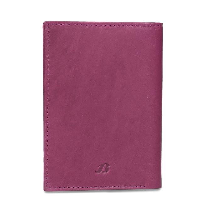 Kožené pouzdro na karty bata, růžová, 944-5158 - 26