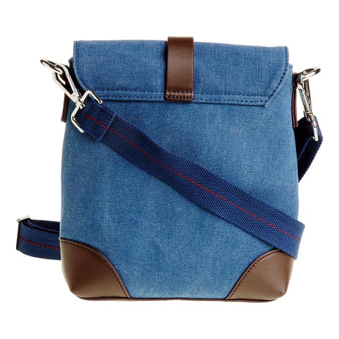 Pánská Crossbody taška s klopou bata, modrá, 969-9284 - 26