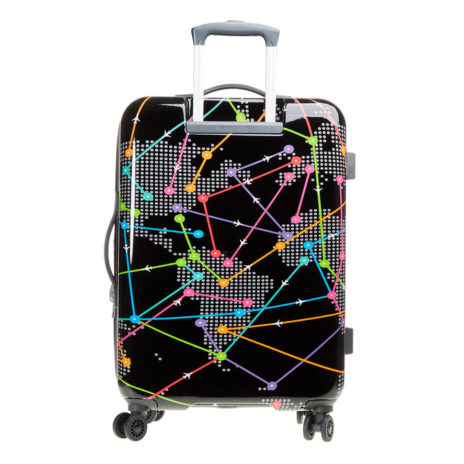 Skořepinový kufr s barevným potiskem american-tourister, černá, 960-6106 - 26