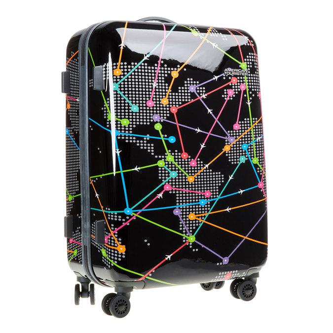 Skořepinový kufr s barevným potiskem american-tourister, černá, 960-6106 - 13
