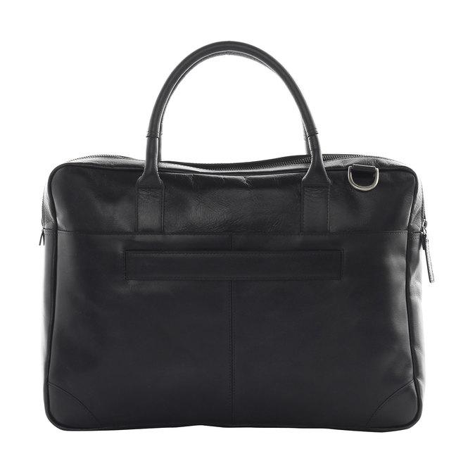 Kožená taška s popruhem royal-republiq, černá, 964-6199 - 15