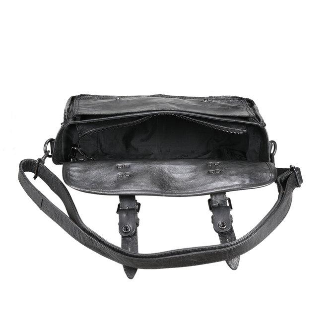 Kožená kabelka ve stylu aktovky, 2019-966-6003 - 15