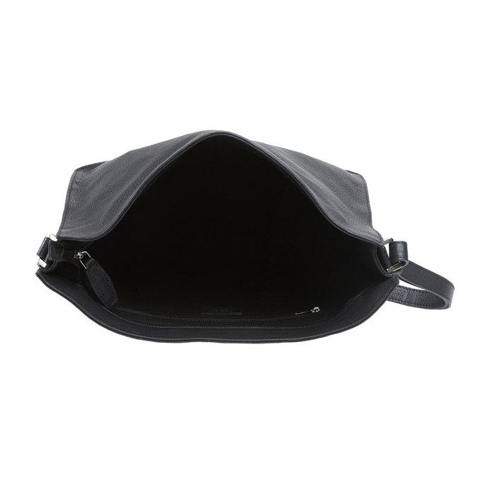 Kožená kabelka elega, černá, 964-6149 - 15