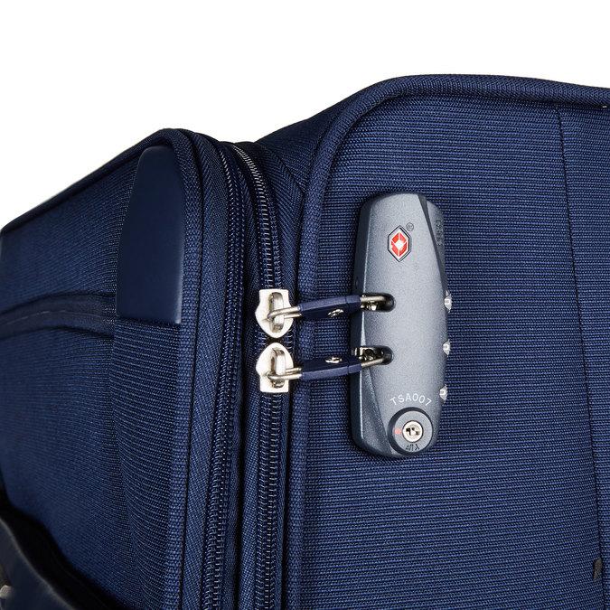Textilní cestovní kufr na kolečkách samsonite, modrá, 969-9343 - 17