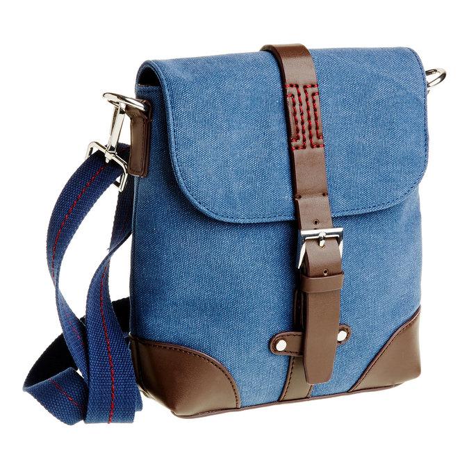 Pánská Crossbody taška s klopou bata, modrá, 969-9284 - 13