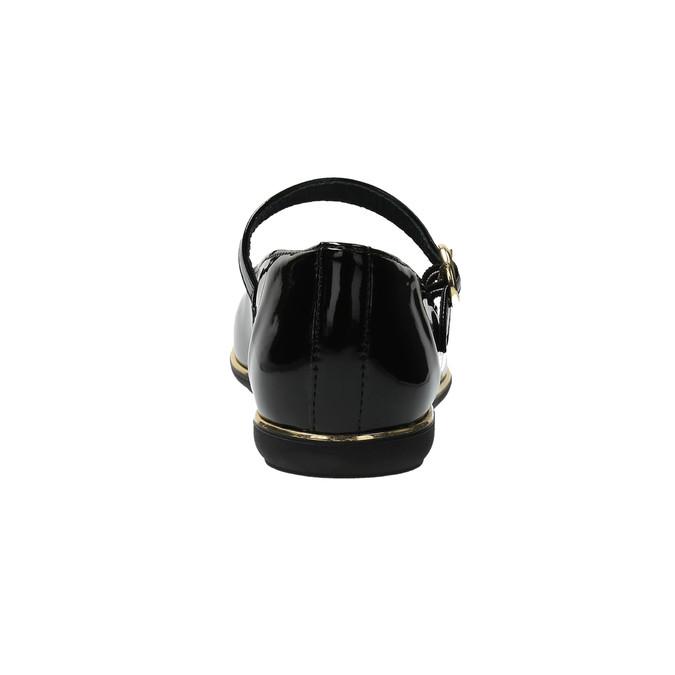 Dívčí kožené baleríny richter, černá, 328-6001 - 17