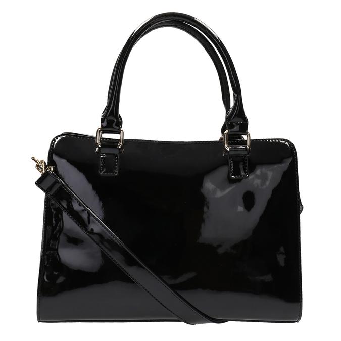 Černá kabelka se zlatými detaily bata, černá, 961-6610 - 26