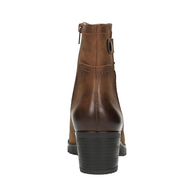 Dámská kotníčková obuv bata, hnědá, 696-4603 - 17