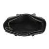 Shopper kabelka s prošíváním a střapcem bata, černá, 961-6287 - 15