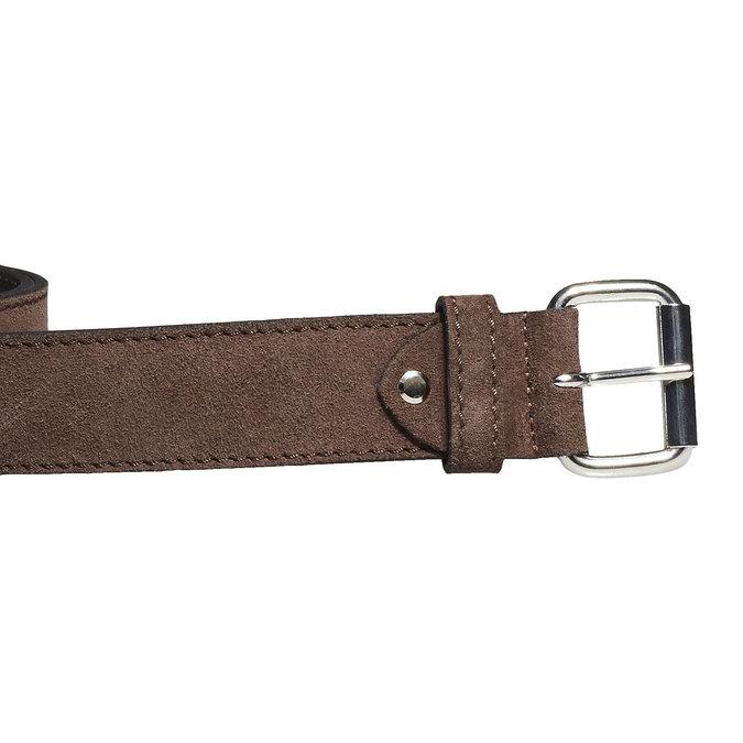 Kožený pánský opasek bata, hnědá, 953-4106 - 26