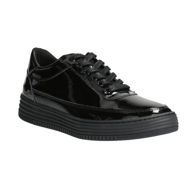 Dámské lakované tenisky bata, černá, 528-6632 - 13