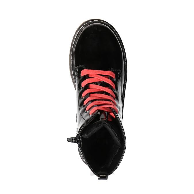 Dívčí kotníčková obuv s růžovým šněrováním mini-b, černá, 321-6600 - 19