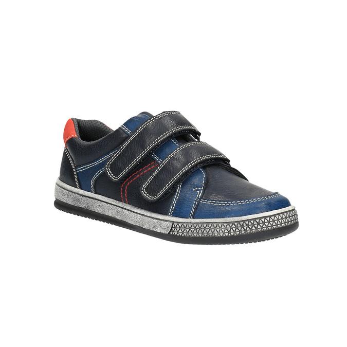Modré dětské tenisky na suché zipy mini-b, modrá, 411-9601 - 13