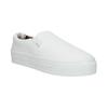 Bílé Slip-on na široké podešvi bata, bílá, 529-1631 - 13