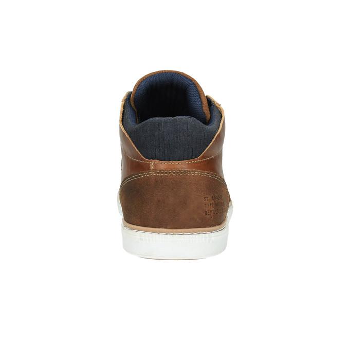 Kožené kotníčkové tenisky bata, hnědá, 844-4621 - 17