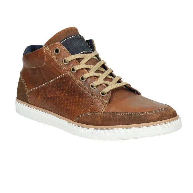 Kožené kotníčkové tenisky bata, hnědá, 844-4621 - 13