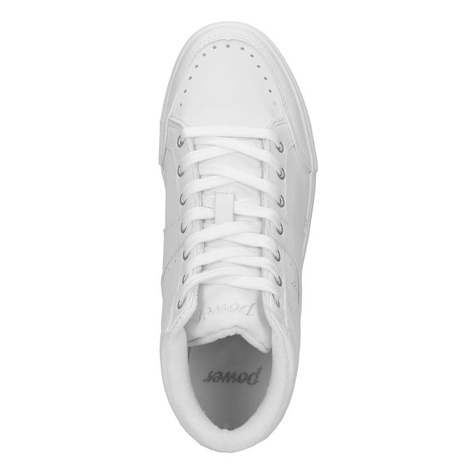 Bílé kotníčkové tenisky power, bílá, 501-1400 - 19