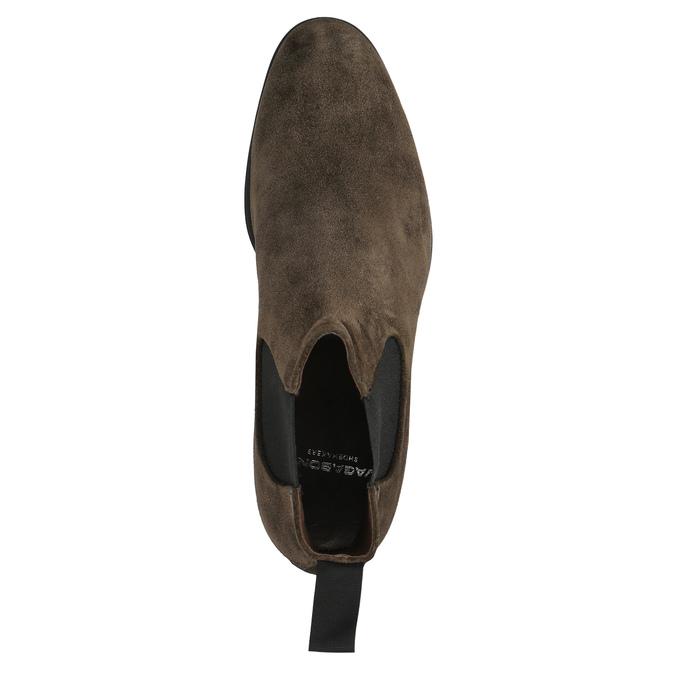 Chelsea Boots z broušené kůže vagabond, hnědá, 893-4028 - 19