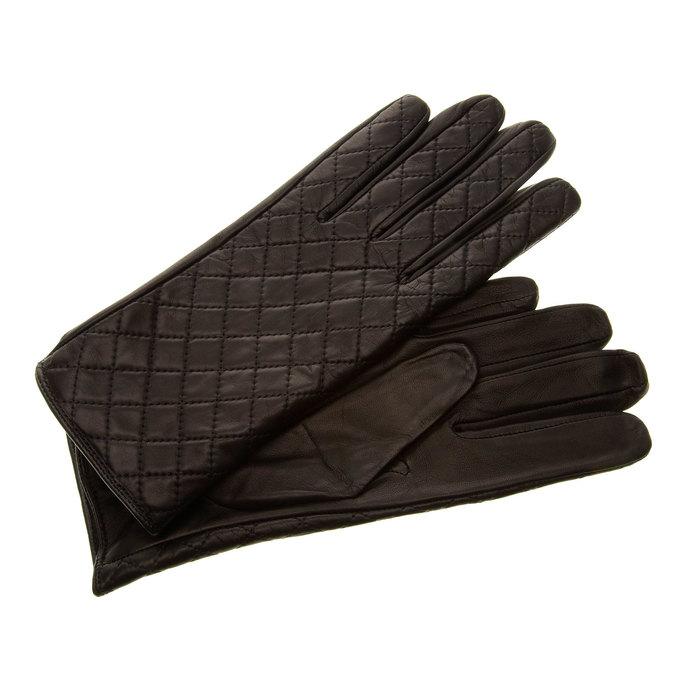 Kožené rukavice s prošitím junek, černá, 924-6002 - 13