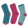 Dětské barevné ponožky 3 páry bata, 919-0493 - 26