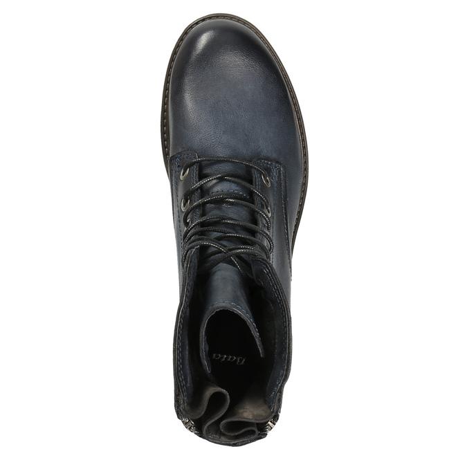 Kožená kotníčková obuv modrá bata, modrá, 596-9616 - 19