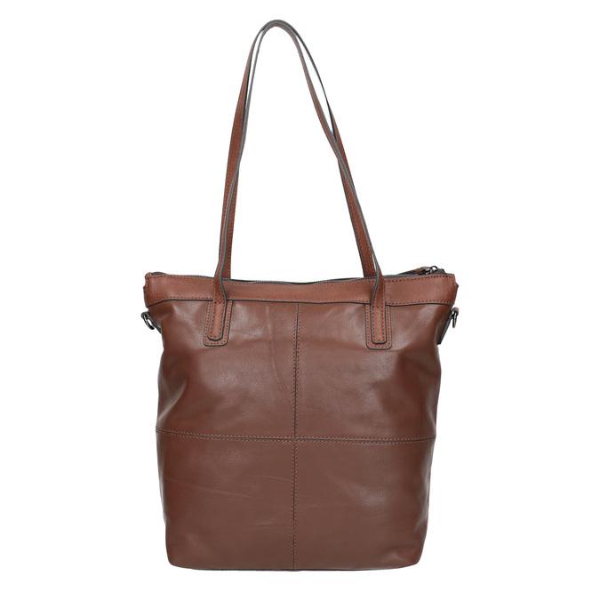 Hnědá kožená kabelka bata, hnědá, 964-3234 - 26