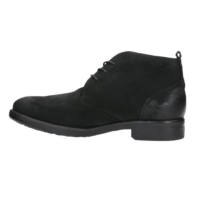 Kotníčková obuv z broušené kůže bata, černá, 846-9611 - 26