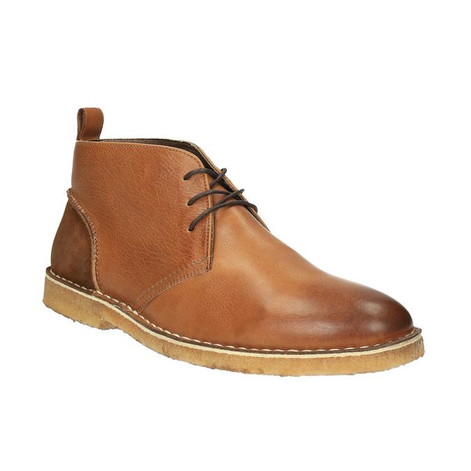 Kožené Chukka Boots bata, hnědá, 824-3665 - 13