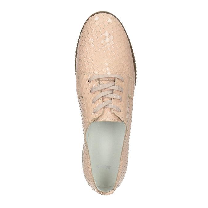 Dámské kožené polobotky bata, růžová, 526-5613 - 19