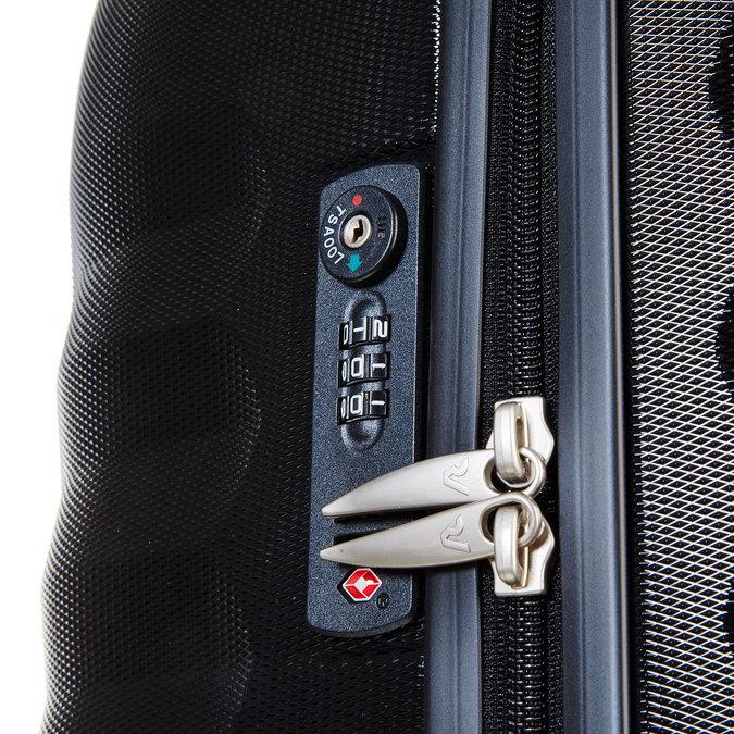 Černý cestovní kufr na kolečkách roncato, černá, 960-6600 - 17
