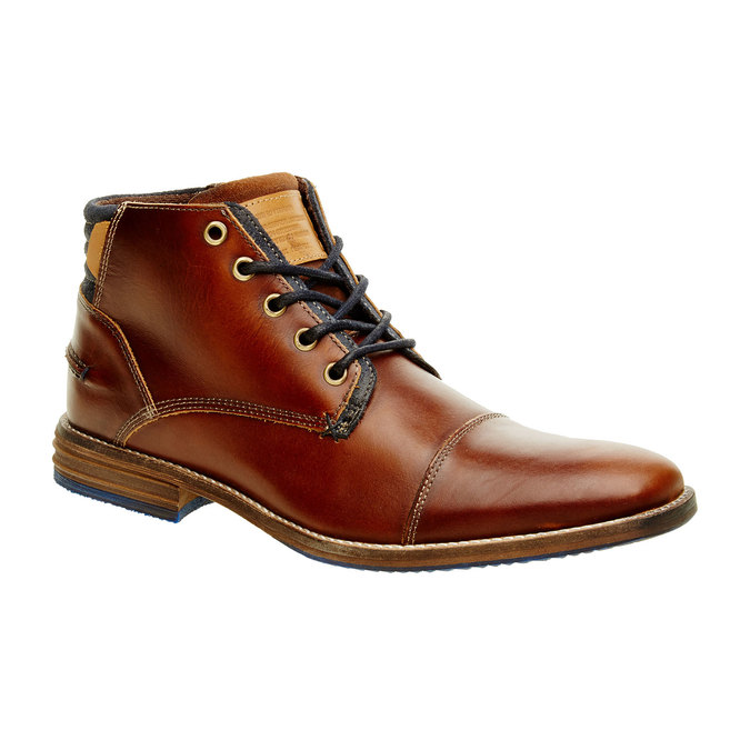 Kožená kotníčková obuv pánská bata, hnědá, 894-4620 - 13