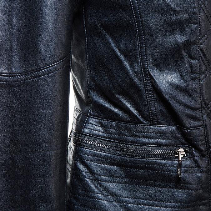 Dámská bunda s šikmým zipem bata, černá, 971-6186 - 16