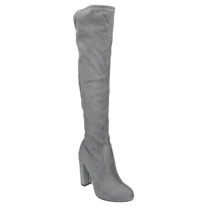 Dámské kozačky nad kolena bata, šedá, 799-2606 - 13