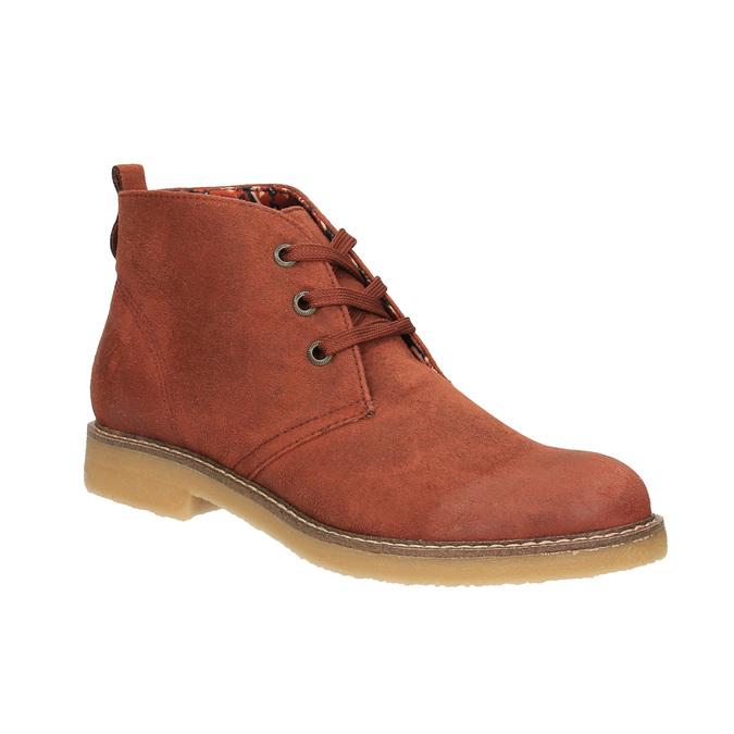 Dámská kotníčková obuv s barevnou podšívkou bata, oranžová, 599-5605 - 13