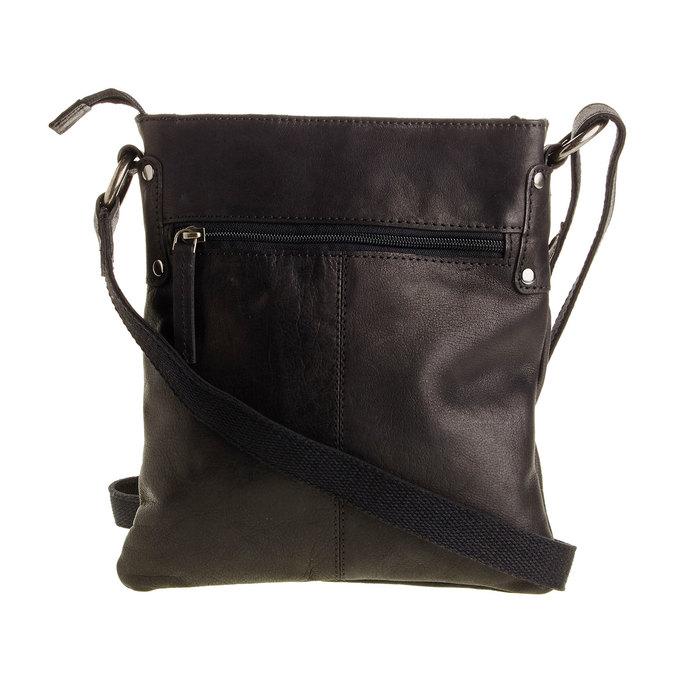 Kožená Crossbody taška bata, černá, 964-6113 - 26