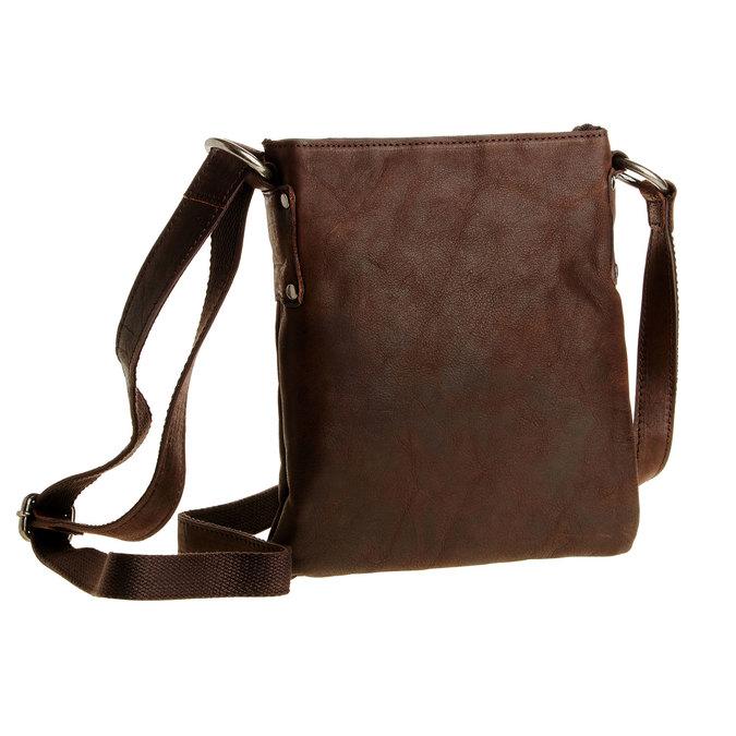 Kožená Crossbody taška bata, hnědá, 964-4113 - 13